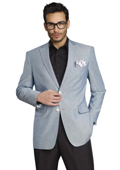SKU#RBS321 Mens Stylish Two Button Jacket Grey $139