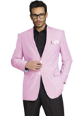 SKU#RFV767 Mens Stylish Two Button Jacket Pink $139