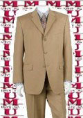Bronz/Gold Close to Tan ~ Beige Shade Mens Suit Luxurious Business Super 140's 3 Buttons Suit $149