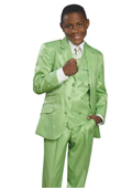 3 Button Green Suit