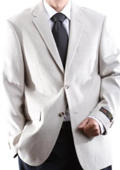 SKU#FHB84 Men's 2 Button Elite Tan ~ Beige Wool Rich Jacket $139