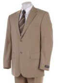 SKU# RH_PG20_2B Men's 2 Two Button Super 100's HW0462 Coffe ~ Tan ~ Beige Business Summer Suits Double Side Vent