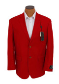 SKU#RED681 Mens Solid Red Sport Coat Jacket Blazer $149