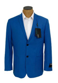 SKU#RYB679 Mens Solid Royal Blue Sport Coat Jacket Blazer $139