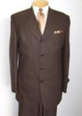 SKU YRE376 100 Wool Super 150s Wool 4 Buttons Brown Suits 139