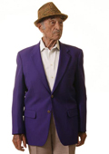 SKU#PLE91 Single Breasted 2 Button Solid Purple Blazer $175