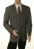 SKU#GRT21 Single Breasted 2 Button Solid Gray Blazer $175