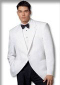 1 or 2 button, Notch lapel front Dinner Jacket Single Breasted $110
