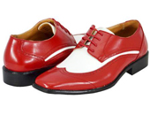 Red White Mens Dress Shoes