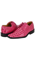 SKU#FSH72 All New fuchsia ~ hot Pink Mens Dress Shoes