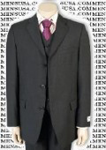 Men's 3 Piece Charcoal Gray Vested three piece suit Fine Quality Poly~Rayon (Wool Feel) 3 Button three piece suit