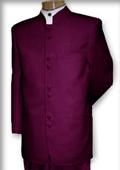 Best Quality Mandarin Collar Burgundy ~ Maroon ~ Wine Color Mandarin Suit $149