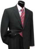 SKU#NVTZ-100 Men's 2 Button Dark Grey Single Breasted, 100% Super fine wool suit pleated pants
