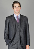 Tapered Leg Lower rise Pants & Get skinny Men's Charcoal Glen Plaid Wool and Silk Blend Vested Suit $175
