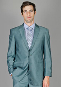 Blue Gray Sharkskin Wool