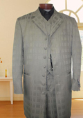 Gray 2-Button Wool Suit
