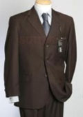 SKU FKI170 Made in Italy  Solid CoCo Liquid Brown Super 150s Worsted Wool 2 vented