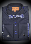 Indigo Cotton Shirt with