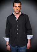 Black Cotton Shirt with