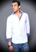 White Cotton Shirt with