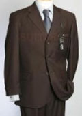 SKU PB3 795 Made in ITALY 100 Wool Super 150s Mens CoCo Brown Pick Stitching Mens Suits Double Vent