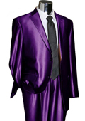 SKU#PRL22 Utex Shiny 2 Button Purple TNT Sharkskin Mens Suit$225