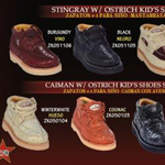 Oxfords High Top Exotic Skin Sneakers for Men Los Altos Kid's Genuine Stingray/caiman ~ alligator w/ Ostrich Lace Up Casual Exotic Shoes $159
