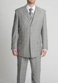Grey three piece suit