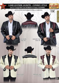 Stingray Jacket Long Application Lamb Leather Jacket Cowboy Style by Los Altos $479