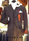 Bold White Pinstripe Vested Super fine Wool feel poly~rayon 3 Button Suit (3 pieces) Comes in 10 Colors $169