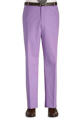 Stage Party Pants Trousers Flat Front Regular Rise Slacks - Lavender $89