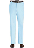 Stage Party Pants Trousers Flat Front Regular Rise Slacks - Light Blue ~ Sky Blue $89