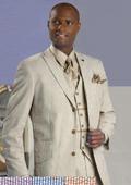 Tan seersucker suit