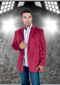Mens Solid Burgundy ~ Maroon ~ Wine Color Blazer $149