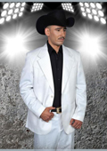 Western Suit in White/Black