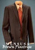 Mens Dark Brown Pinstripe 3 Buttons Mens 100% Super 140's Woorsted Wool $295