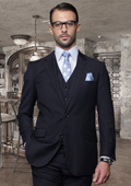 Button Navy Suit with