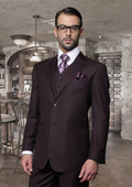2 Button Very Dark Purple Suit