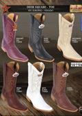 Los Altos Square-Toe Genuine Deer Men's Western Cowboy Boots $199