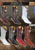 Los Altos Square-Toe Genuine Eel Men's Western Cowboy Boots $199