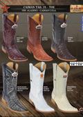 Los Altos XXX 3X Toe Genuine caiman ~ alligator Tail Mens Western Cowboy Boots $349