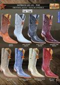Los Altos 6X Toe Genuine Ostrich Leg Mens Western Cowboy Boots $239