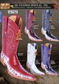 Los Altos 6X Toe Genuine Eel Men's Western Cowboy Boots $217