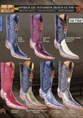 Los Altos 6X Toe Genuine Ostrich Leg Mens Western Cowboy Boots $226