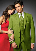 2 Btn Suit/Stage Party Tuxedo Satin Trim outlines a Notch Lapel Matching Trousers lime mint Green ~ Apple ~ Neon Bright Green $595