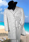Gorgeous White & Black Pinstripe Pattern Fashion FASHION ZOOT WITH VEST $159