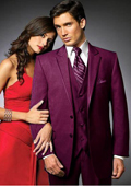 2 Btn Suit/Stage Party Tuxedo Satin Trim outlines a Notch Lapel Matching Trousers Burgundy ~ Maroon ~ Wine Color $595