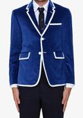mens blue velvet blazer