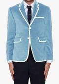 Light Blue ~ Sky Blue Classic Cotton~Rayon Blazer $595