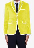 Yellow Classic Cotton~Rayon Blazer $595